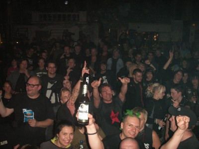 The lovely crowd at the Exzess in Frankfurt on Sunday 17th October