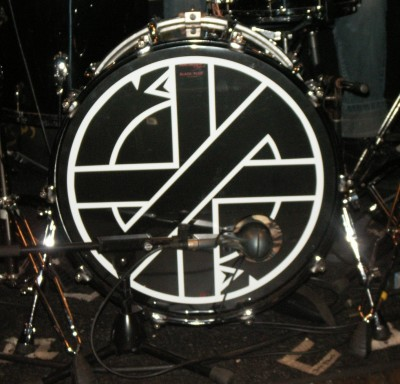 Spike had a special drum head made for his kit for The Last Supper