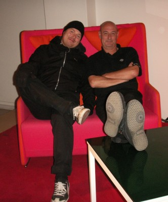 Me and Thomas who interviewed me for the talk, sitting on the talk show sofa.